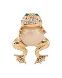Carolee   Metallic Hugging Frog Pin   Lyst
