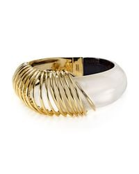 Alexis Bittar | Metallic Coiled Lucite Hinge Bangle | Lyst