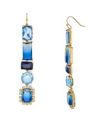 kate spade new york | Blue Color Crush Drop Earrings | Lyst