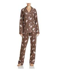 Pj Salvage | Multicolor Reindeer Flannel Pajama Set | Lyst