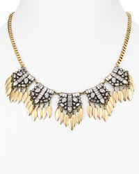 "Aqua   Metallic Hula Statement Necklace, 18"" - 100% Exclusive   Lyst"