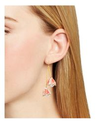 Tory Burch - White Bud Drop Earrings - Lyst