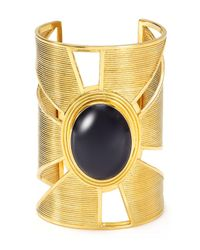 Yuwei - Multicolor Onyx Triangle Cutout Cuff - Lyst