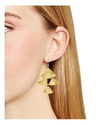 Yuwei - Metallic Tiered Drop Earrings - Lyst