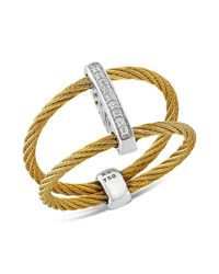 Alor - Metallic Diamond Yellow Cable Ring - Lyst
