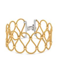 Alor | Metallic Two Tone Looped Cable Bracelet | Lyst