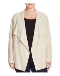 Eileen Fisher | Natural Shawl Collar Cardigan | Lyst