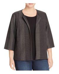 Eileen Fisher | Black Tonal Stripe Jacket | Lyst