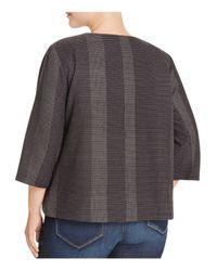 Eileen Fisher - Black Tonal Stripe Jacket - Lyst