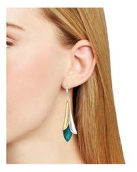 Robert Lee Morris - Metallic Petal Drop Earrings - Lyst