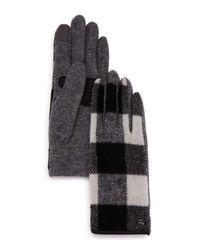 Echo - Gray Buffalo Plaid Tech Gloves - Lyst