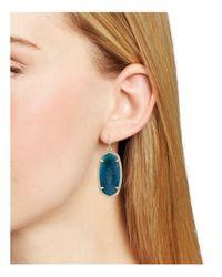 Kendra Scott - Blue Signature Elle Drop Earrings - Lyst