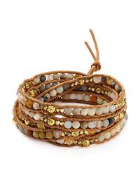 Chan Luu | Brown Matte Multi Amazonite Mix Wrap Bracelet | Lyst