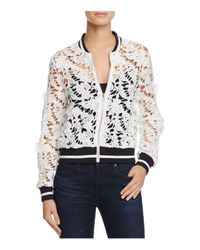 Lucy Paris | White Grace Lace Bomber Jacket | Lyst