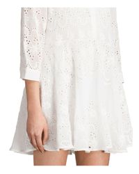 AllSaints | White Anais Dress | Lyst