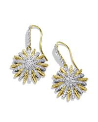 David Yurman - Yellow Starburst Drop Earrings With Diamonds - Lyst