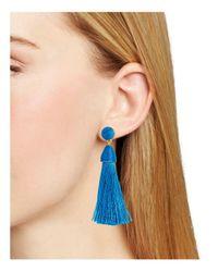 BaubleBar - Blue Rosabella Tassel Earrings - Lyst