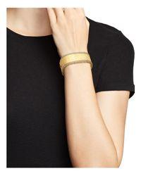 Roberto Coin | Metallic 18k Yellow Gold And Diamond Large Satin Princess Bangle | Lyst