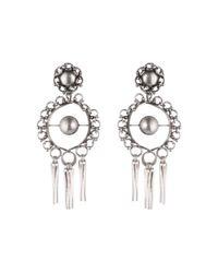 DANNIJO - Metallic Ash Silver Chandelier Earrings - Lyst