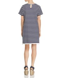 Beach Lunch Lounge - Blue Striped Tee Dress - Lyst