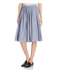 Vince | Blue Shirred Full Skirt | Lyst