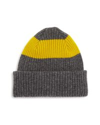 Paul Smith - Multicolor Color-block Lambswool Beanie Hat for Men - Lyst