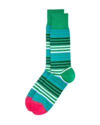 Paul Smith - Green Sanny Stripe Socks for Men - Lyst