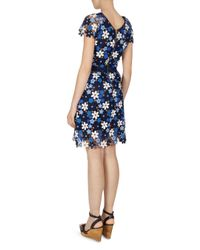 Gerard Darel - Blue Doralia Floral-lace Dress - Lyst
