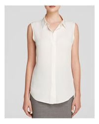 Theory - White Top - Tanelis Silk Georgette - Lyst
