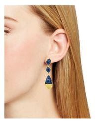 BaubleBar - Blue Druzy Drop Earrings - Lyst