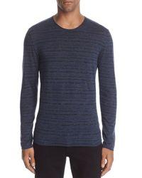 John Varvatos - Blue John Varvatos Striped Long Sleeve Crewneck Sweater for Men - Lyst