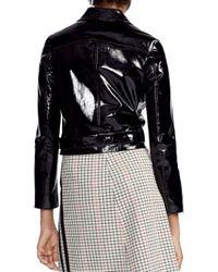Maje - Black Bliza Cropped Patent Leather Jacket - Lyst
