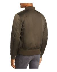 7 For All Mankind - Green Satin Bomber Jacket for Men - Lyst