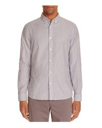 Michael Kors - Blue Braxton Stripe Regular Fit Button-down Shirt for Men - Lyst