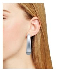 Alexis Bittar - Gray Angled Hoop Earrings - Lyst
