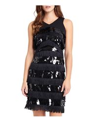 dc7acedf Phase Eight Becca May Sequin & Fringe Dress in Black - Lyst