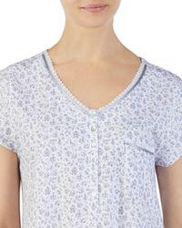 Eileen West - Multicolor Cap Sleeve Short Sleepshirt - Lyst