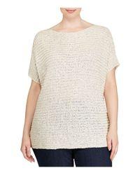 Ralph Lauren | Natural Lauren Plus Textured Short-sleeve Sweater | Lyst