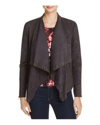 Cupcakes And Cashmere - Gray Mackenzie Drape Faux Suede Jacket - Lyst