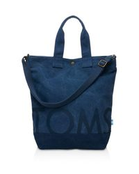 TOMS | Blue Navy Canvas Compass Tote | Lyst