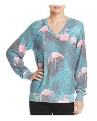 Wildfox | Blue Miami Palms Sweatshirt | Lyst