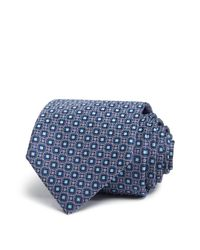 Canali - Blue Medallion Neat Classic Tie for Men - Lyst