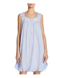 Eileen West - Blue Sleeveless Short Nightgown - Lyst