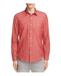 7 For All Mankind | Red Regular Fit Button-down Shirt for Men | Lyst