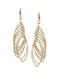 ABS By Allen Schwartz - Metallic Multi Ring Gypsy Drop Earrings - Lyst