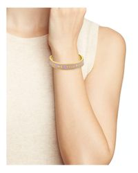 Kate Spade - Metallic Kiss Me You Fool Bangle - Lyst