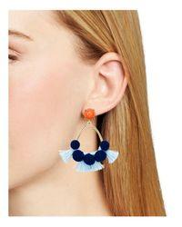 BaubleBar   Blue Melina Hoop Earrings   Lyst