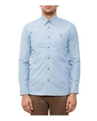 Ted Baker | Blue Newway End-on-end Regular Fit Button-down Shirt for Men | Lyst