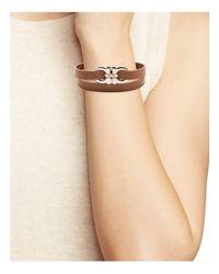 Ferragamo - Multicolor Ferragamo Double Gancini Leather Double Wrap Bracelet - Lyst