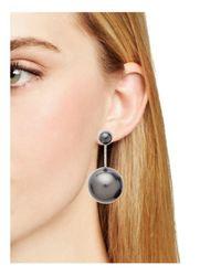 Ferragamo - Black Faux Pearl Drop Earrings - Lyst